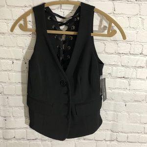 NWT I-N-C Black Vest